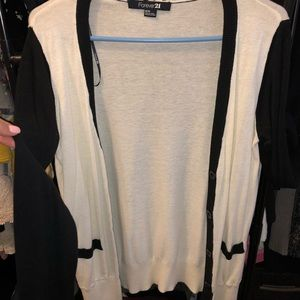 Black and white cardigan (Forever 21)